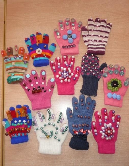 перчатки массажные своими руками для детей