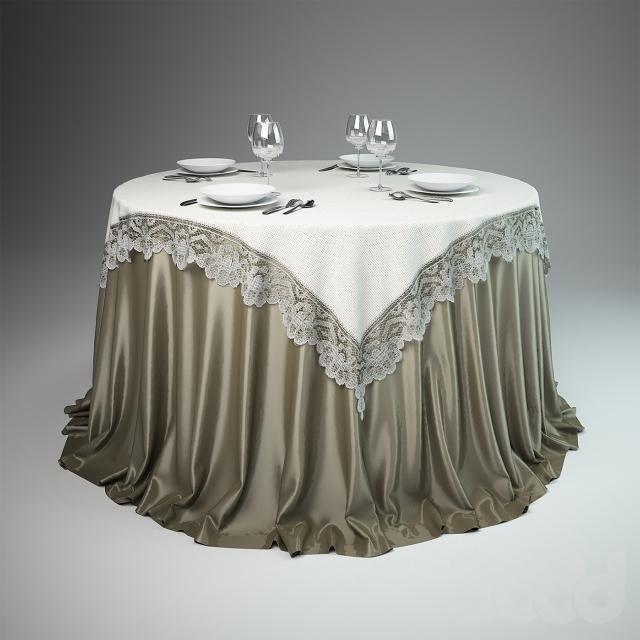 квадртаная и круглая скатерть на стол