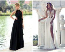 модели длинных платьев