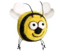 пчела из шерсти
