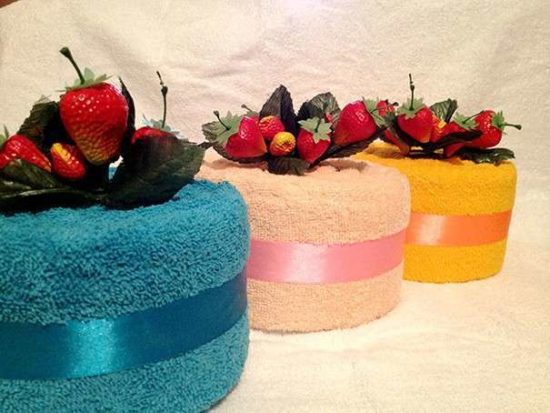 торт из полотенца