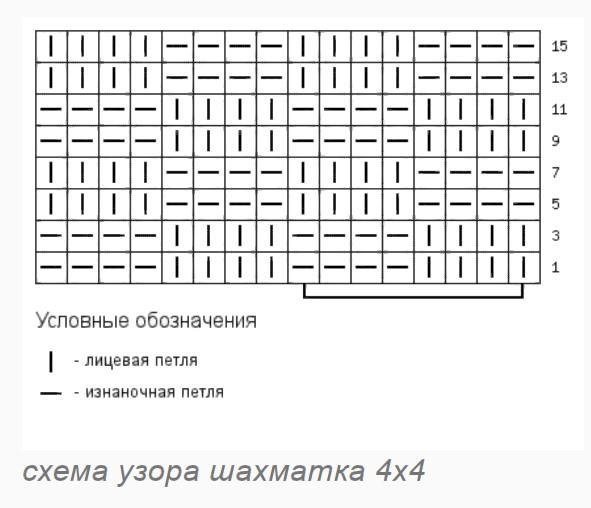 палантин шахматка 4 х 4
