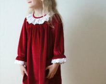 платье из бархата для девочки