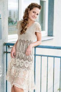 платье шетландским узором
