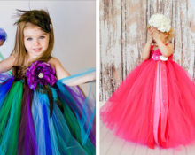 Пышное платье для девочки своими руками