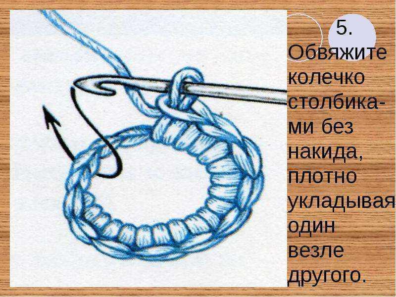 пояс крючком схема кольца