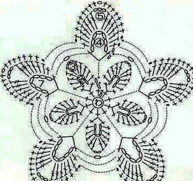 пояс крючком цветок 2
