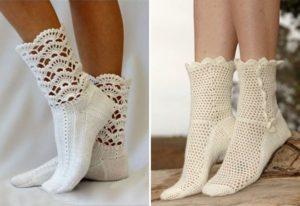 преимущества и недостатки ажурных носков