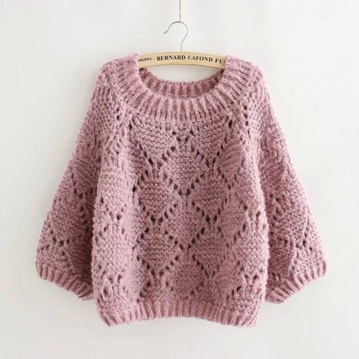 свитер из толстой пряжи своими руками