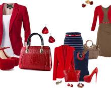 с чем сочетать красный в одежде