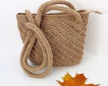 сумка из джута крючком