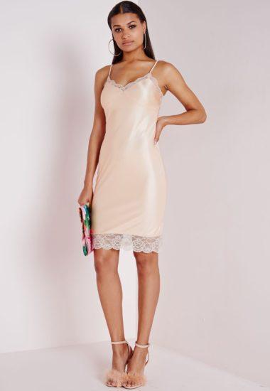 платье из шёлка в бельевом стиле