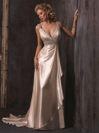 платье в греческом стиле из шёлка