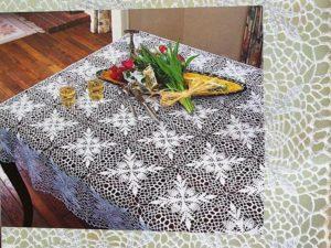 схемы для вязания скатерти