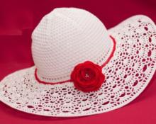 шляпа крючком фото 1