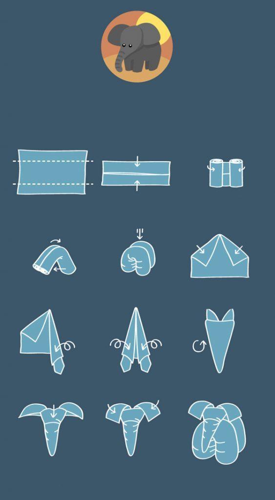 Схема складывания слона
