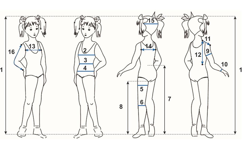 снятие мерок для платья для девочки