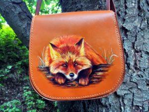 сумка с ручной росписью