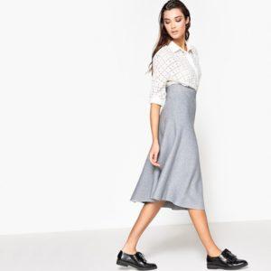 трикотажная серая юбка