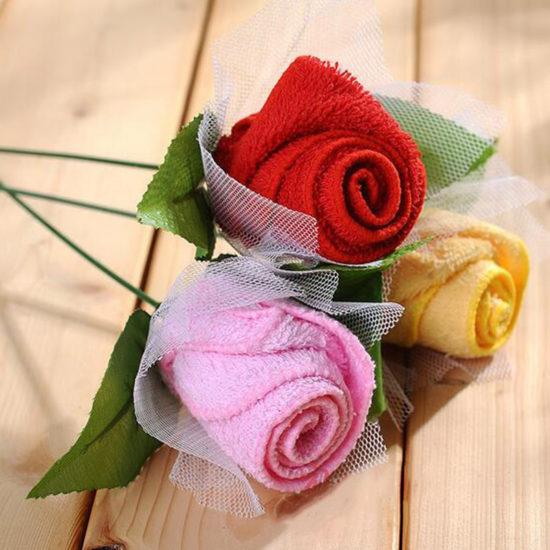 цветок из полотенца