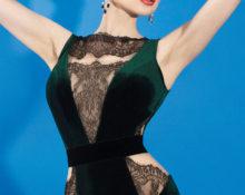платья из бархата и кружева фасоны фото