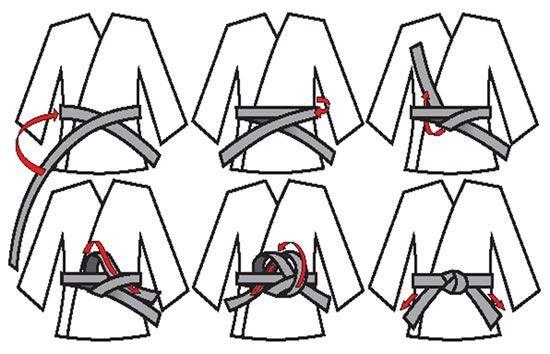 второй способ завязывания пояса