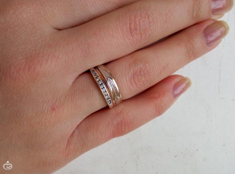 как носить кольца вместе