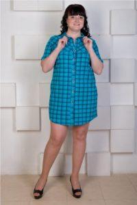 халат-платье в стиле мужской рубашки