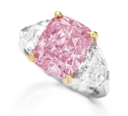 Vivid Pink Graff Diamond Ring