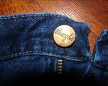 как поменять пуговицу на джинсах