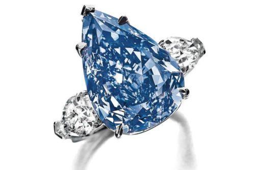blue diamond ring chopard