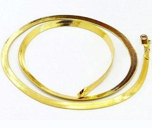 Плоские золотые цепочки