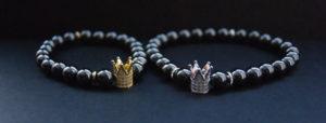 парные браслеты с короной