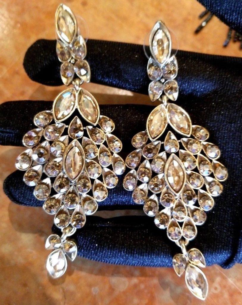 бриллиантовые серьги жирандоль