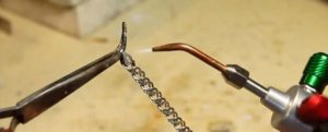 как запаять серебряную цепочку в домашних условиях
