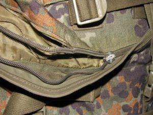 замена молнии на рюкзаке