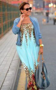 Фасоны сарафанов для женщин за 50 голубой