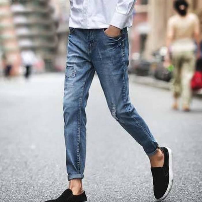 Мокасины с укороченными джинсами
