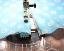 Обработка молнии на швейной машинке