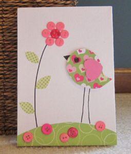 открытки из пуговиц