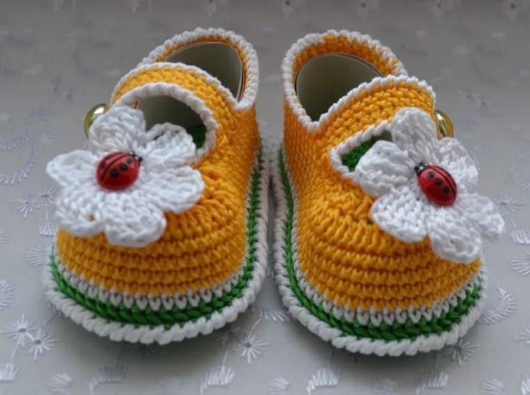 Пинетки-туфельки крючком 1