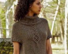 Платье женское коричневое реглан