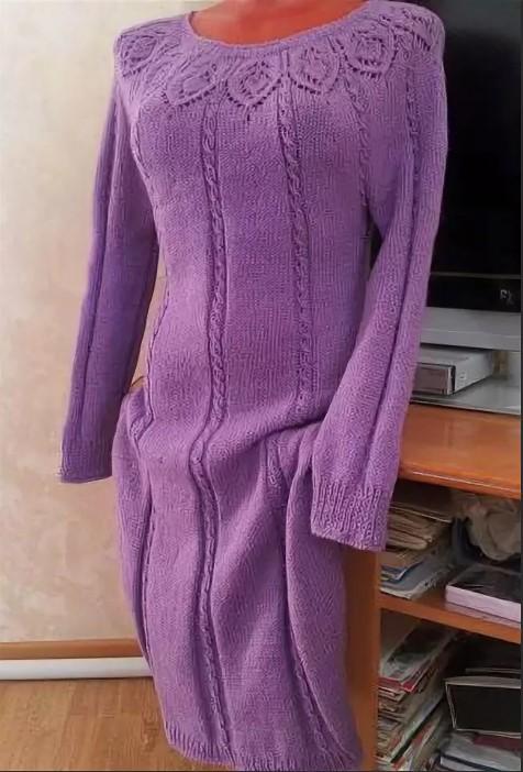 Платье женское реглан сиреневое