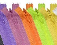 Разноцветные потайные молнии