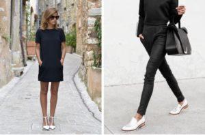 белые туфли с перемычкой