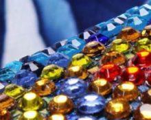 Алмазная вышивка на подрамнике круглыми стразами