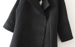 пальто без пуговиц