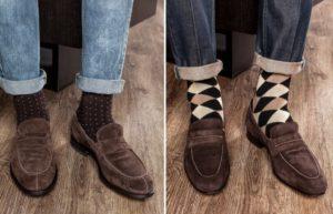 лоферы с цветными носками