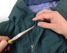замена молнии в куртке