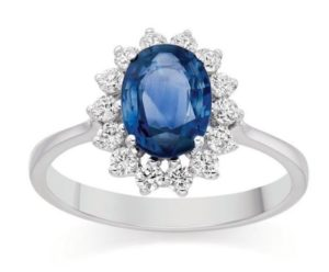 с голубым камнем